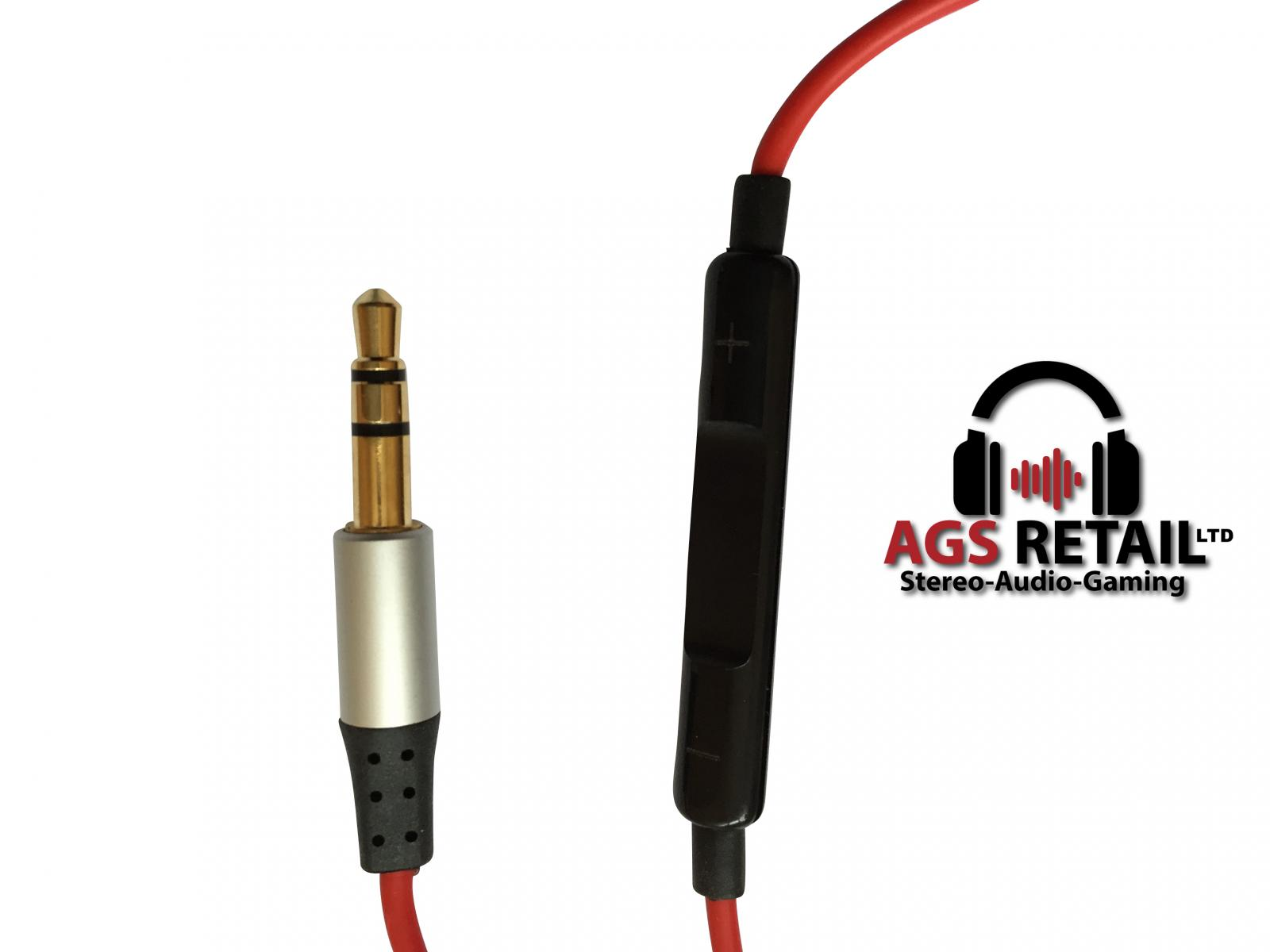 Skullcandy Audio Cable : Red replacement audio cable for skullcandy hesh
