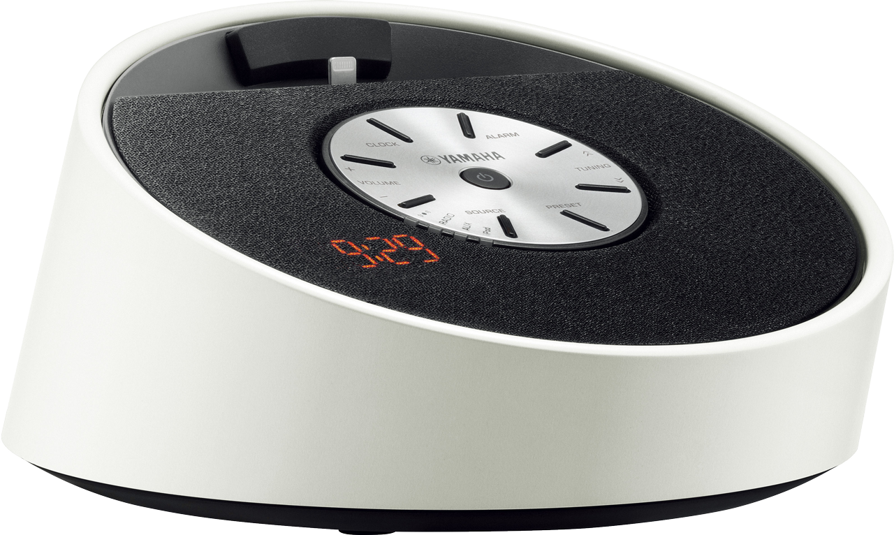 yamaha tsx 14 lightining audio dock speaker alarm clock radio for ipod iphone. Black Bedroom Furniture Sets. Home Design Ideas