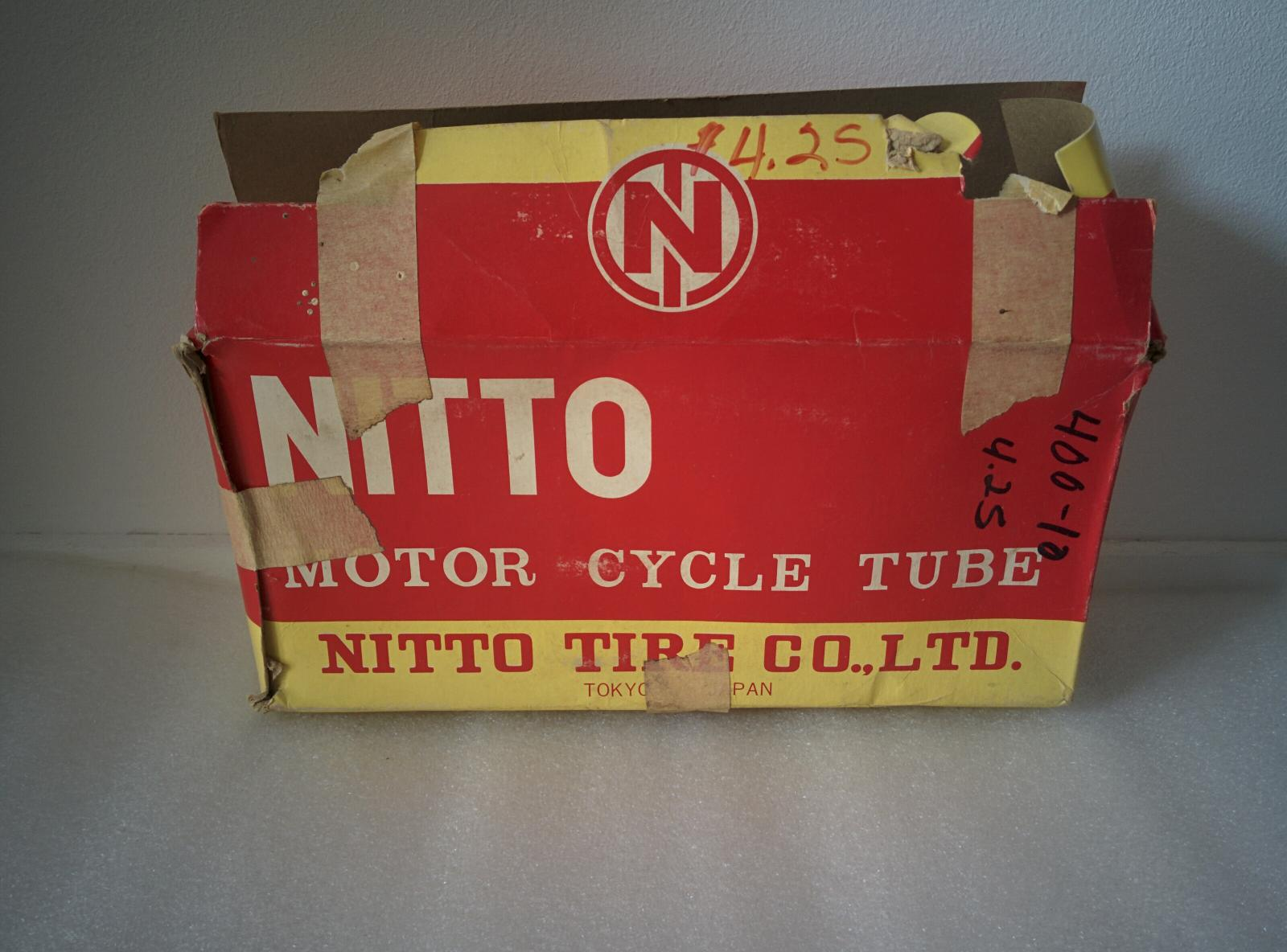Rare Nos Nitto 400 10 Inner Tube For Honda Ct70 Ch250 Nh80 St50 1970 Parts List Usable Various Models Cf50 Please Check Pictures And Your Partslist To Make Sure Its The