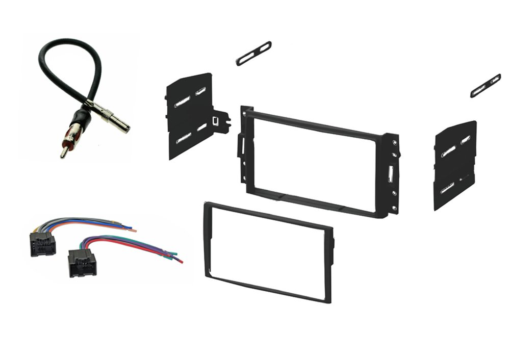 double din car stereo dash kit harness antenna chevy aveo