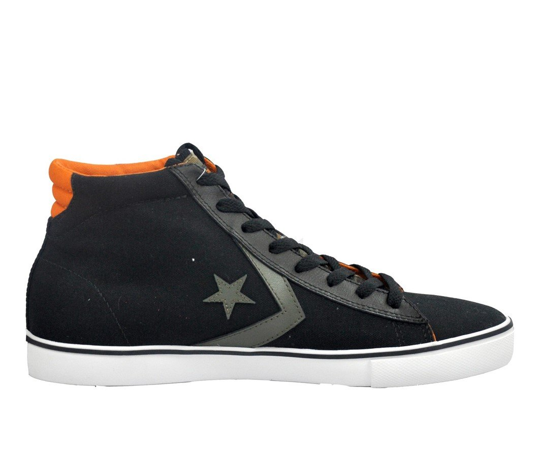 Converse CONS One Star Mid Shoes Sneakers Black/Orange ...