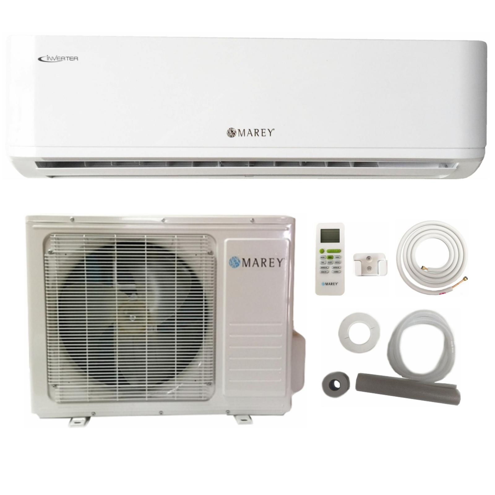 #5A6871 Marey 18000 BTU Mini Split Inverter Air Conditioner With  Most Recent 14780 Window Air Conditioner 220 Volts image with 1600x1600 px on helpvideos.info - Air Conditioners, Air Coolers and more