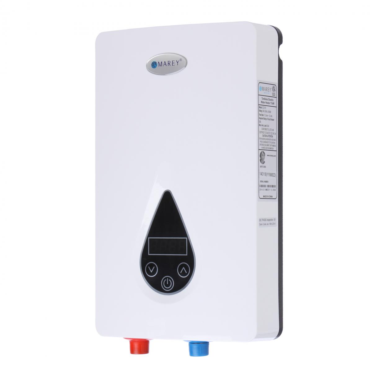 Marey Tankless Hot Water Heater 3 Gpm Electric On