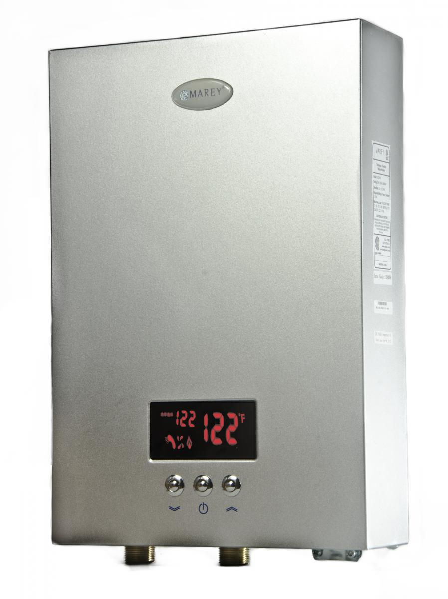 marey tankless hot water heater 5 gpm electric on demand 240v with digital panel ebay. Black Bedroom Furniture Sets. Home Design Ideas