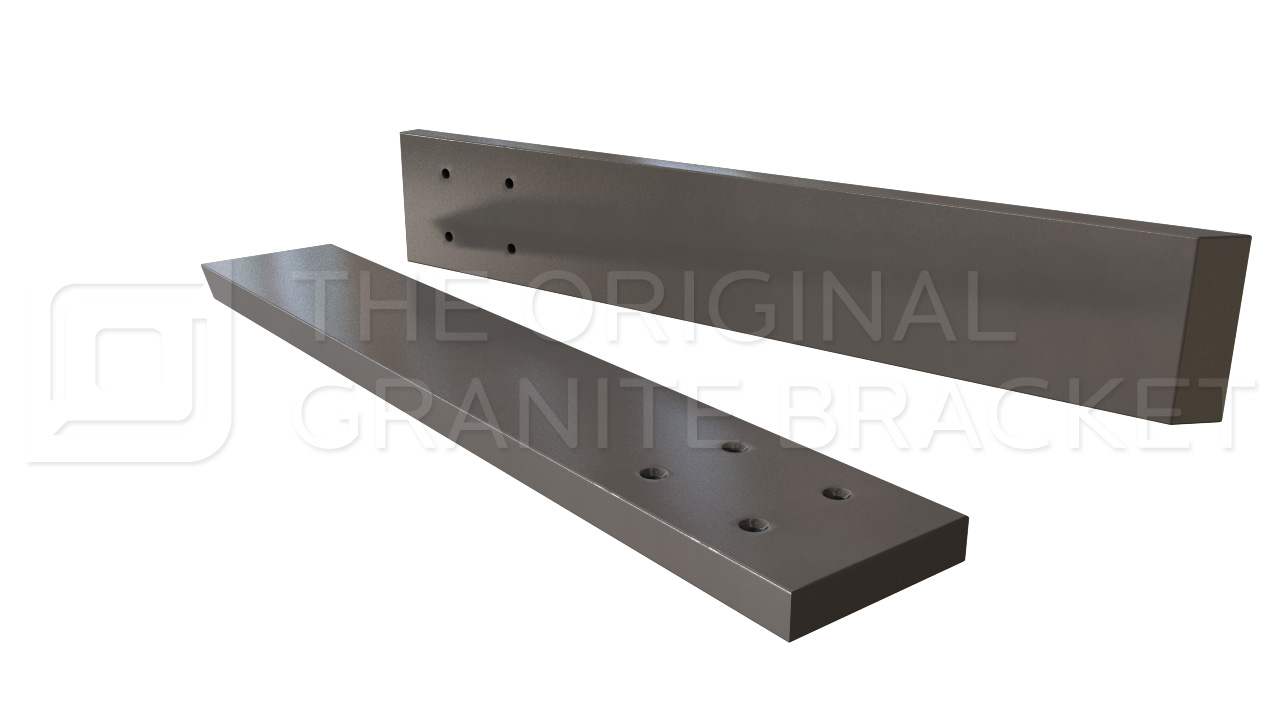Countertop support bracket steel bracket kitchen bar top for Granite counter support