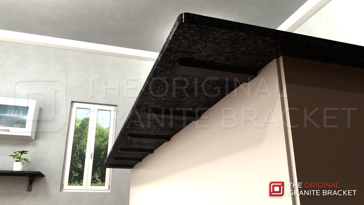 Countertop support bracket steel bracket hidden bar top for How to support granite overhang