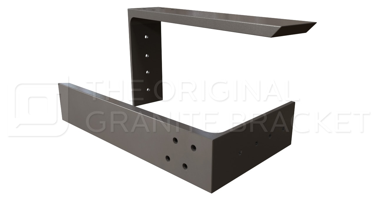 countertop support bracket steel bracket hidden bar top bracket l bracket ebay. Black Bedroom Furniture Sets. Home Design Ideas