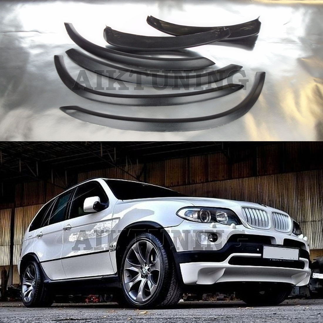 Bmw Xs5: Bmw E53 X5 4.8style Wide Extended Wheel Arches Fender Set