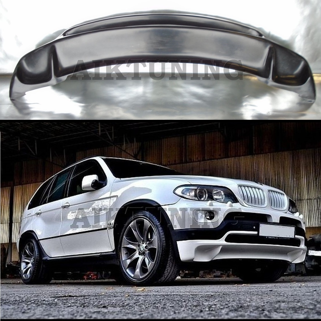 Bmw Xs5: Bmw E53 X5 4.8is Style Front Bumper Addon Spoiler For All