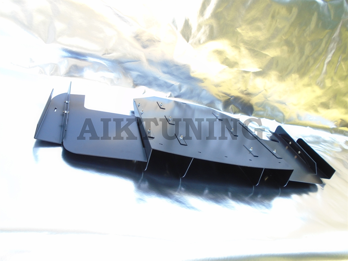 Buy Bmw E36 M3 Rear Bumper Diffuser Performance Cover Durable Rocket Bunny This Is Made Of 9 Light Weight Aluminium Parts It Powderpainted Matt Black And Weighs Around 7kgs All Screws Fixings Are