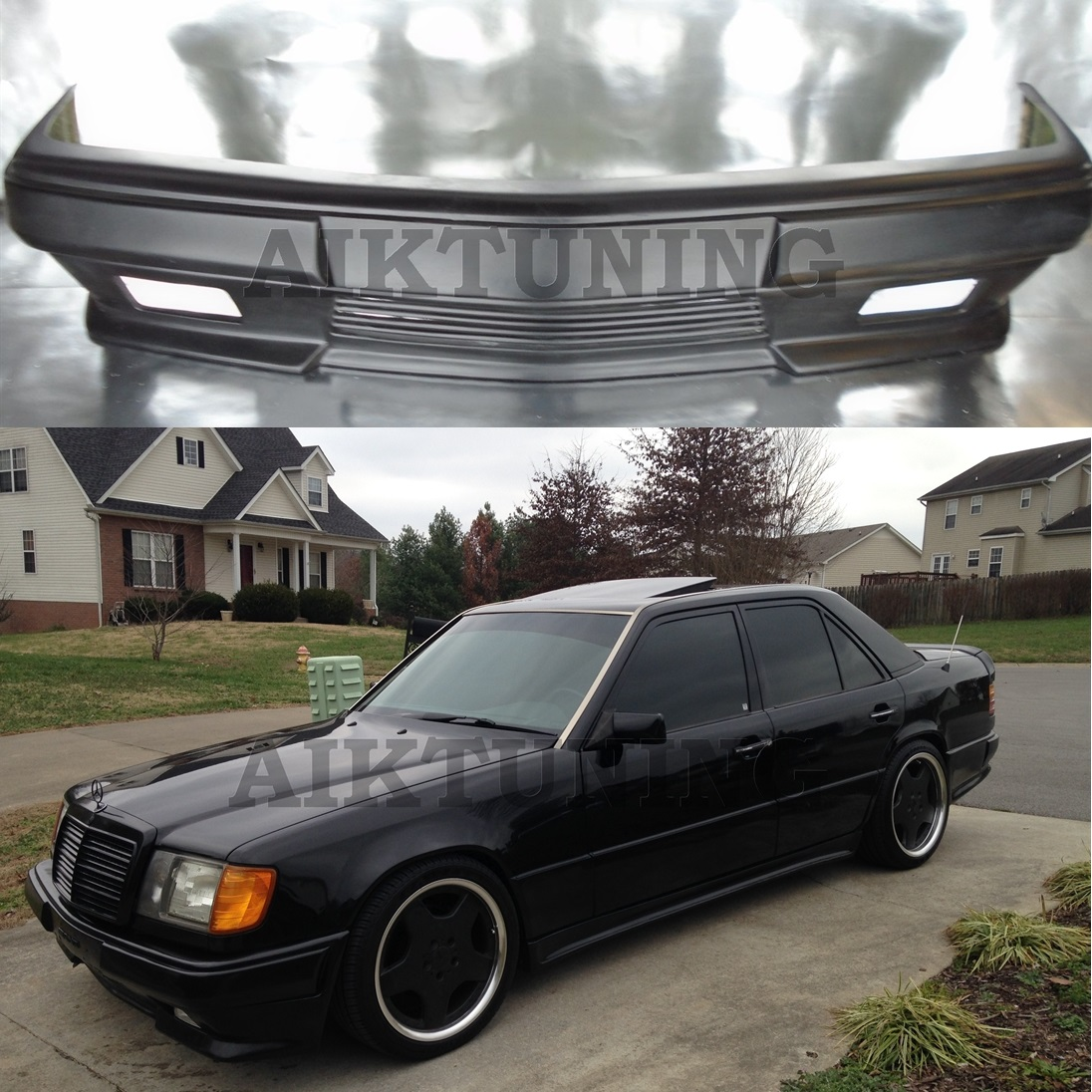 Mercedes benz w124 amg 2 style full front bumper spoiler for Mercedes benz w124 amg