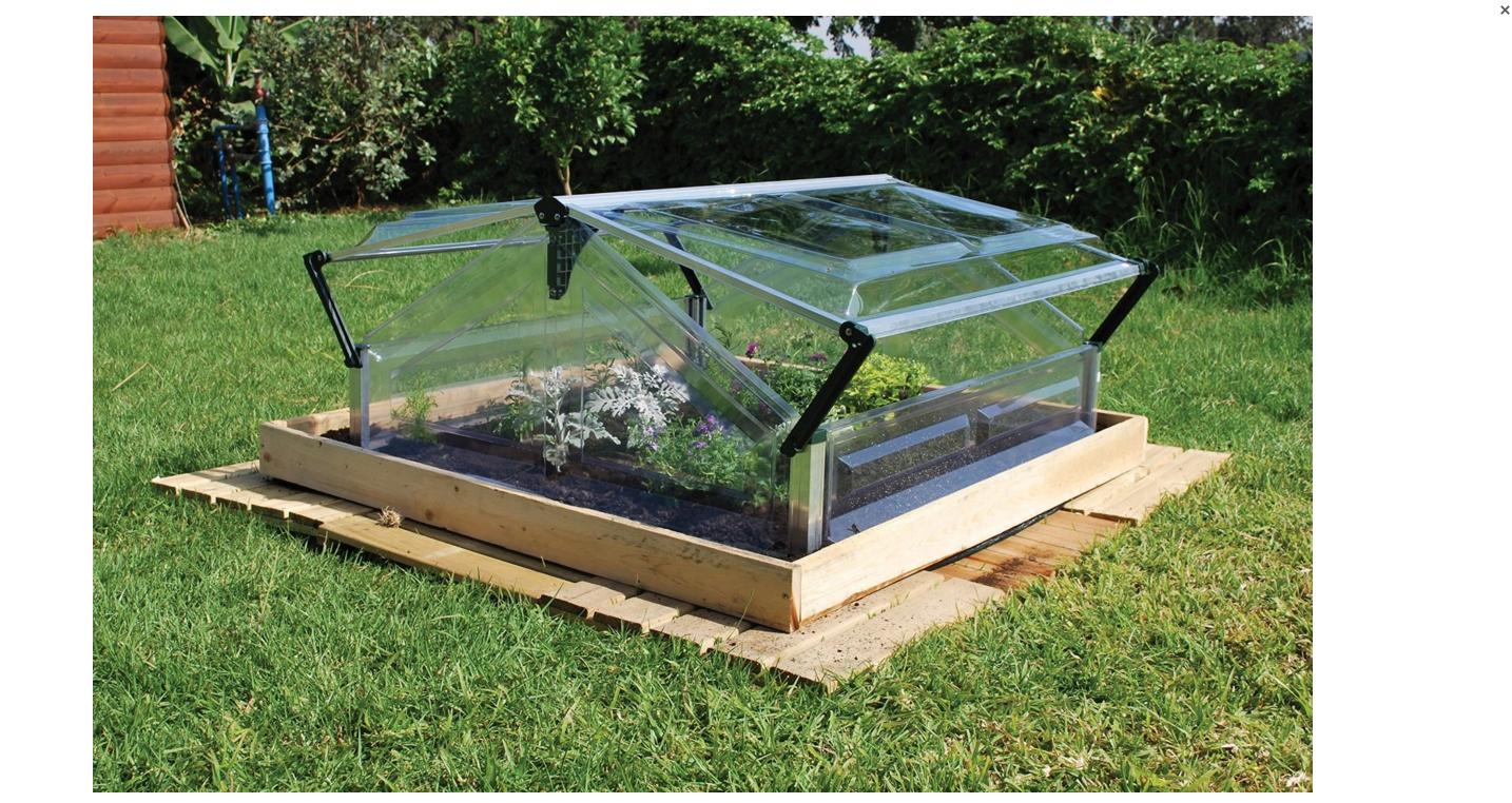 cold frame 4ftx3ft double mini garden greenhouse palram. Black Bedroom Furniture Sets. Home Design Ideas