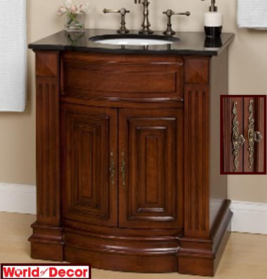 bathroom vanities marble top vanity wood tone finish sink cabinet