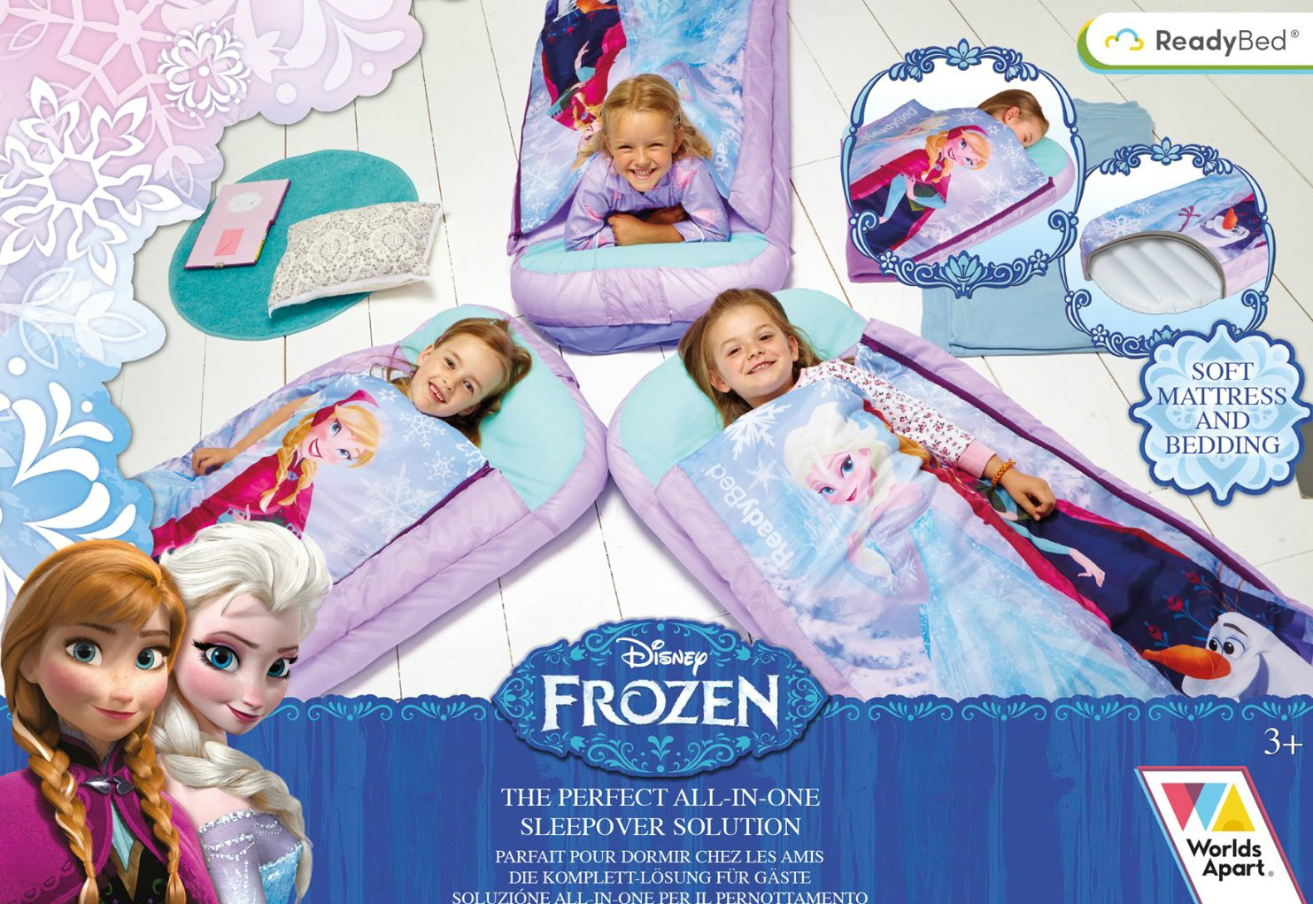 Disney Frozen Bed Junior Ready Sleeping Bag Readybed Kids