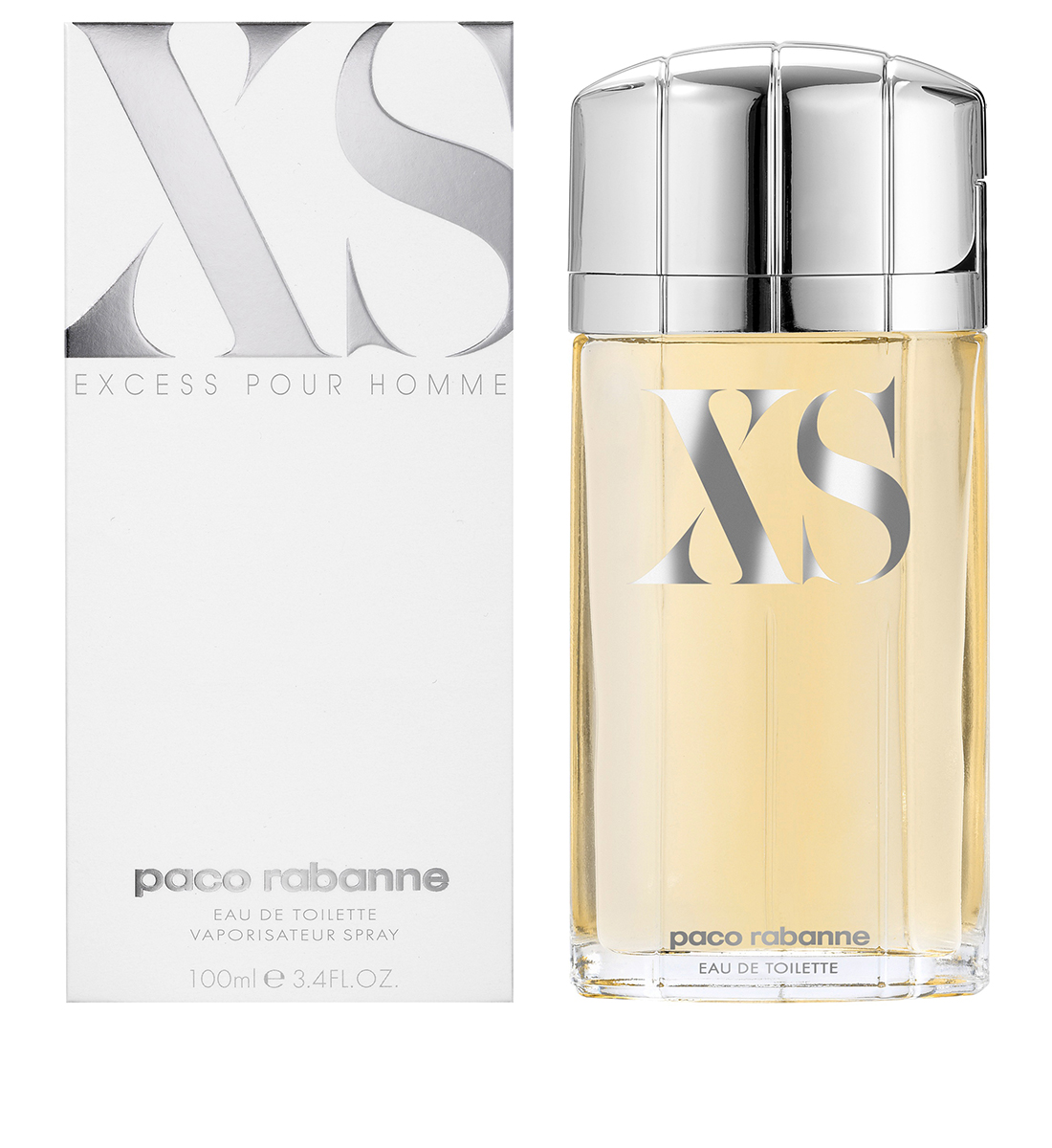 parfum excess de xs paco rabanne eau de toilette 100 ml. Black Bedroom Furniture Sets. Home Design Ideas