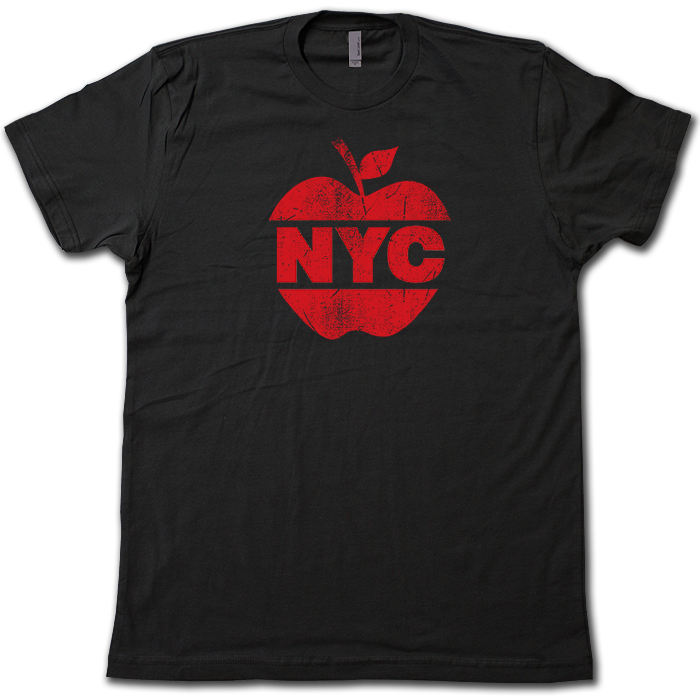 c1405eeff62 Details about BIG APPLE New York City T-Shirt! 5 Boroughs Brooklyn