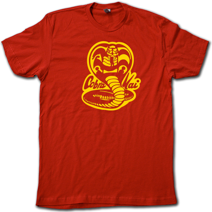 Karate Kid Cobra Kai Sweep the Leg on Back Black t-shirt tee