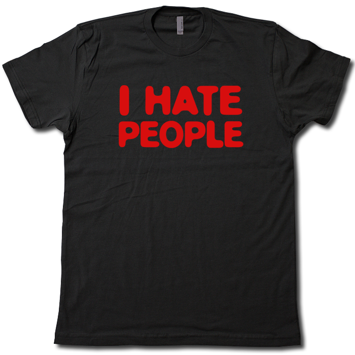 Mens I Hate People Funny T-Shirt Antisocial People Long sleeve T Shirt top