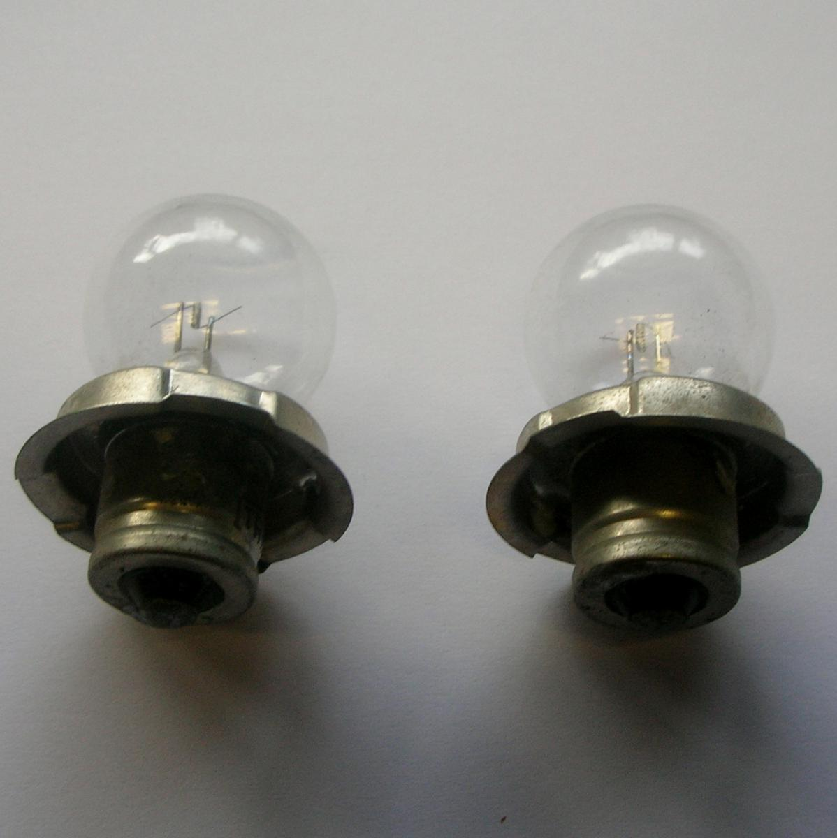 Set of 2 x 6v 18w p26s moped bulbs lamps ebay for 6v lampen moped