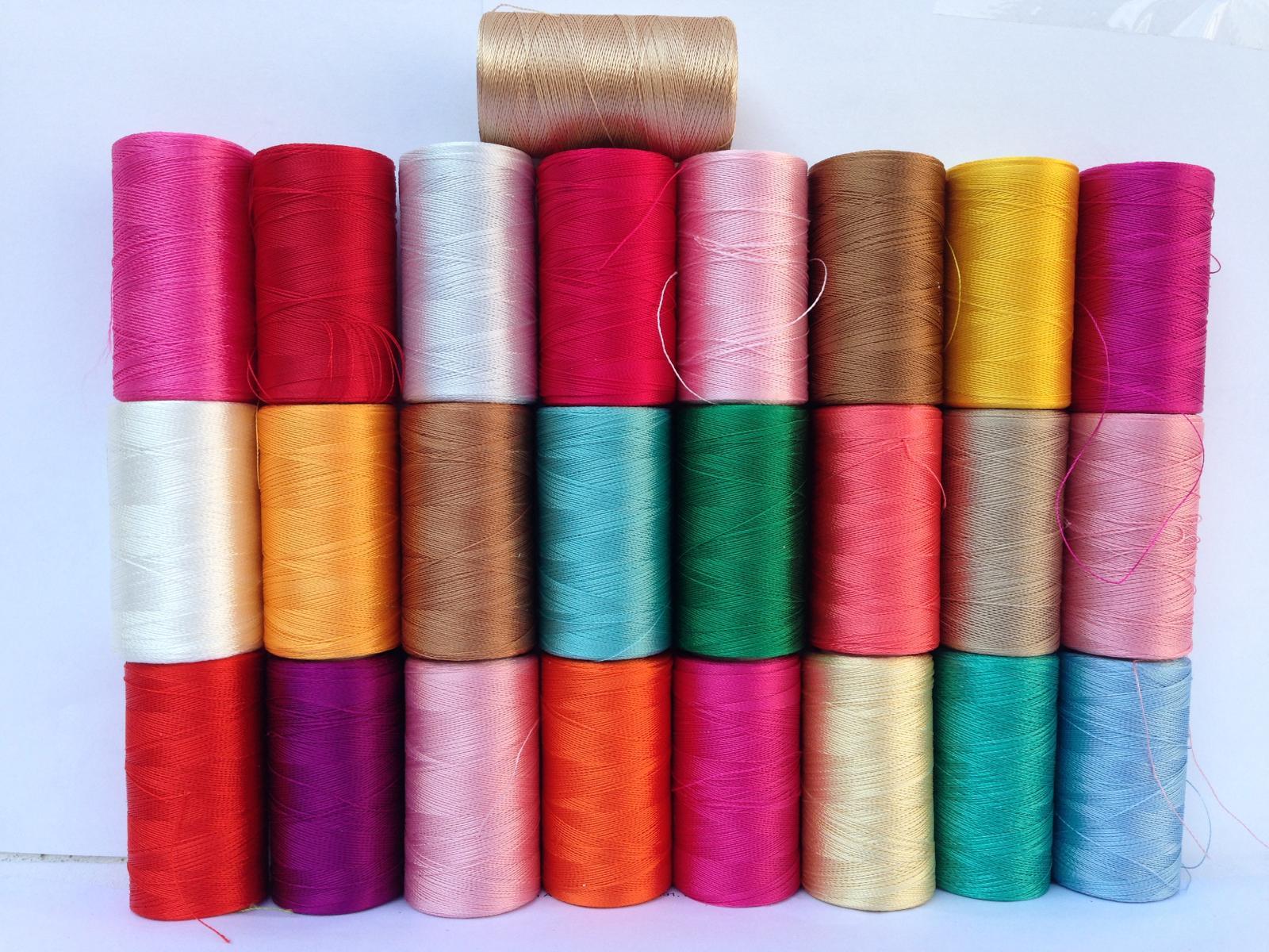 New 25 Assorted Machine Embroidery Thread Spool Rayon Art Silk Good Quality