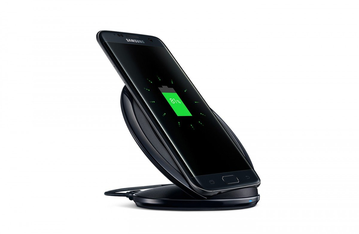 Fast Wireless Charger Pad With Stand For Samsung Galaxy S7