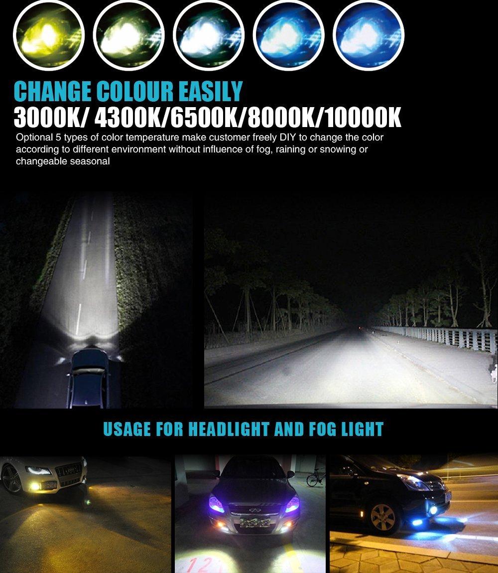 Jdm Astar 4s 9006 Hb3 Cree 4400lm Led Drl Headlight 3000k 6500k 8000k Light Bulb Ebay