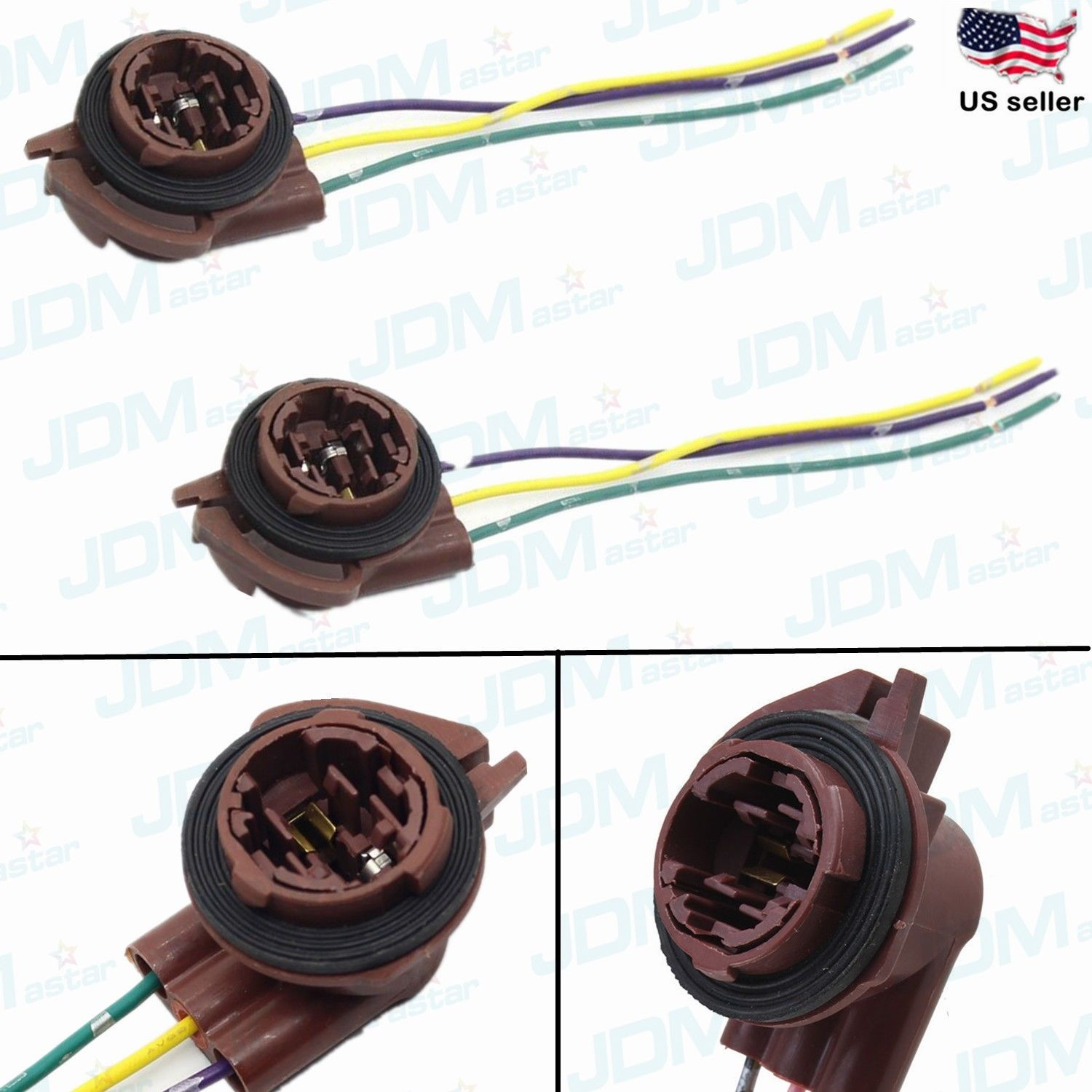Jdm Astar 3157 4157na Bulb Socket Turn Signal Light Harness Wire Plug Connectors Ebay