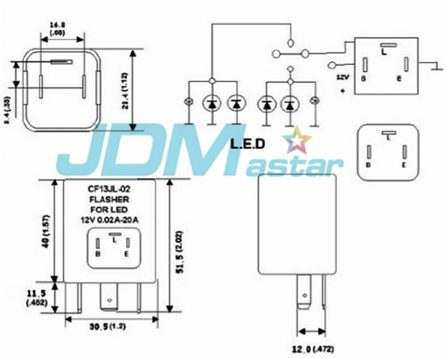 4 Pin Flasher Unit Wiring Diagram