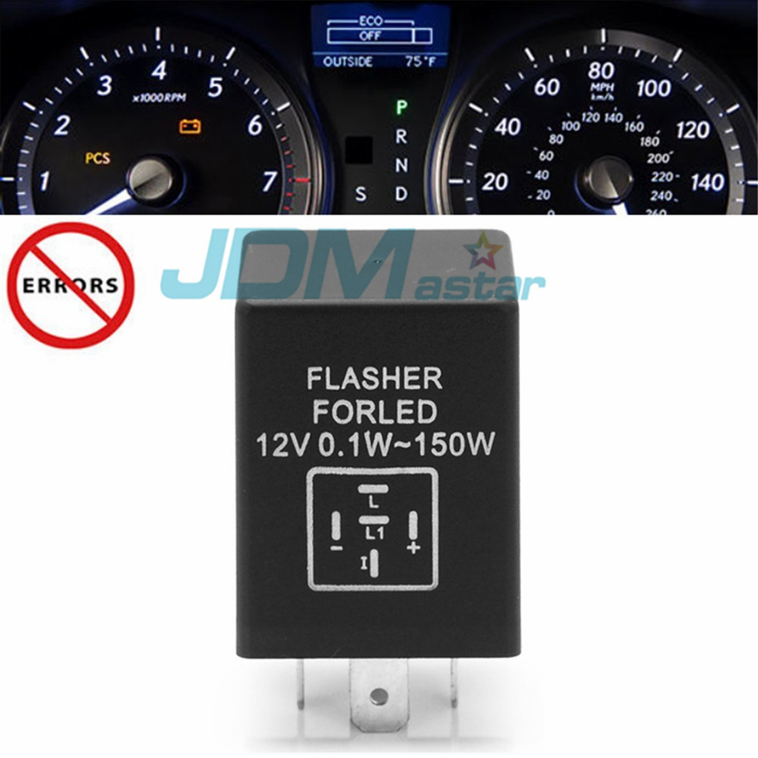 JDM ASTAR EP LED Flasher Relay Fix Hyper Flash Car Turn Signal - Relay vehicle selection