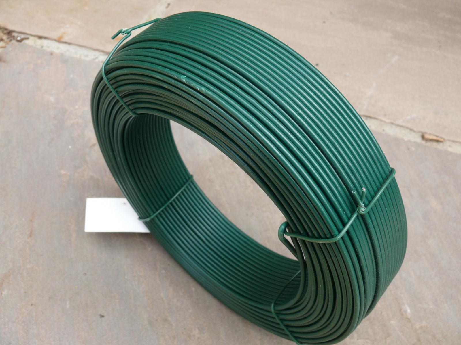 Pvc Coated Wire : Fencing straining wire green pvc tensioning line