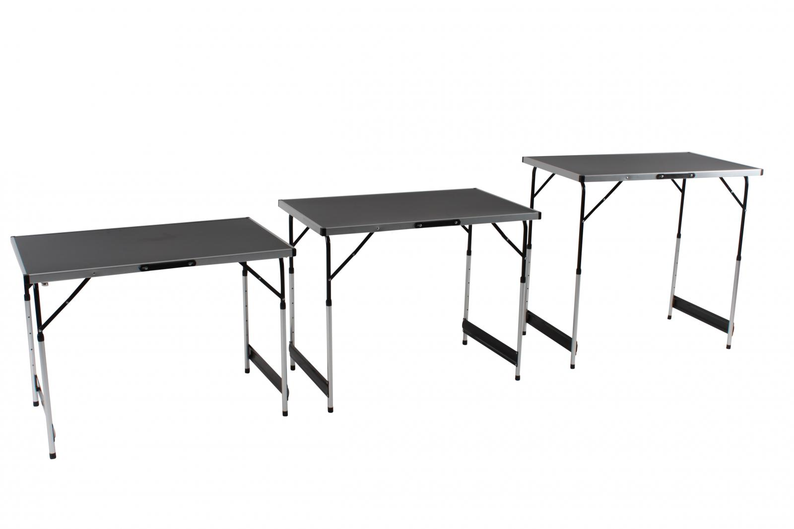 1m metre aluminium lightweight height adjustable folding table set of 3 tables - Small lightweight folding table ...