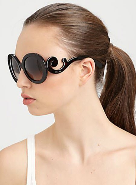 Prada Round Baroque Sunglasses  prada baroque sunglasses