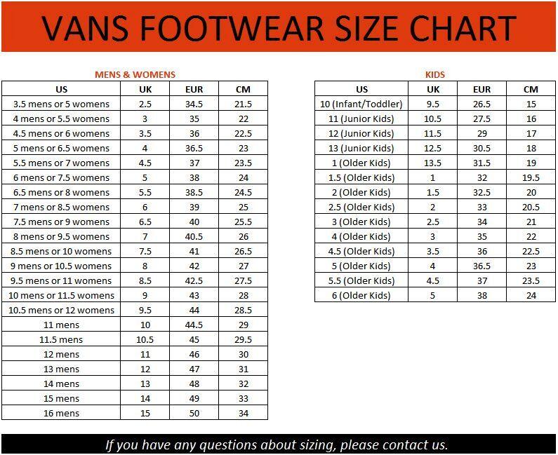 Converse Crib Shoes Size Chart Style Guru Fashion Glitz Glamour
