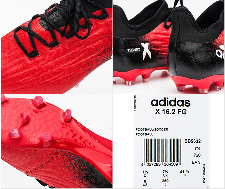Adidas X 16.2 FG BB5632 Soccer Football Cleats Shoes Boots Red Limit ... 45a2cd7bb39