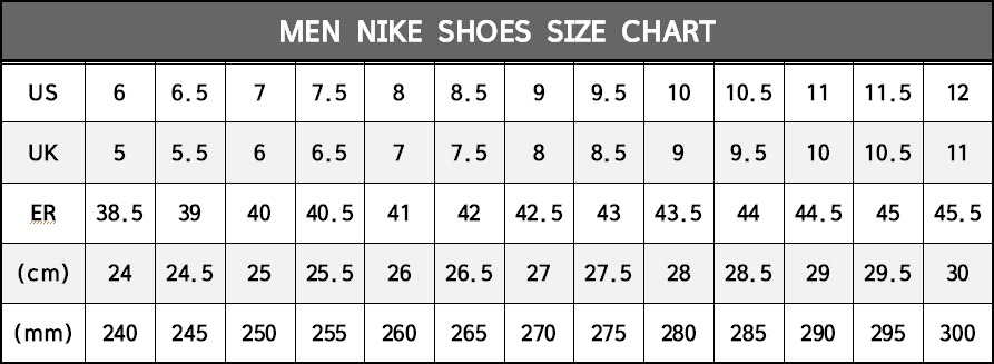 Renacimiento Carnicero arena  Nike Womesn Shoes: Nike Size Chart Mens Shoes