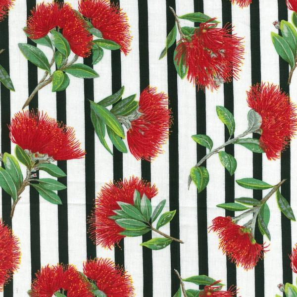 Details about Fat Quarter Pohutukawa New Zealand Christmas Flower Cotton Quilting Fabric