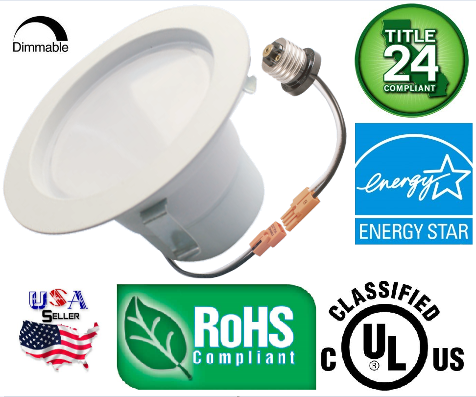 Downlight trim 9w led recessed dimmable 4 inch retrofit for 5 star energy