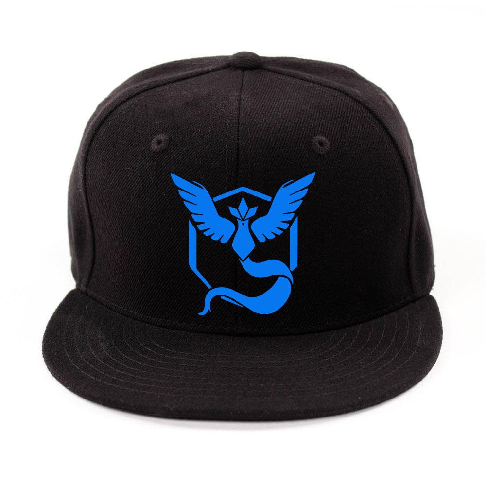 Pokemon Go Cap Logo Hat Snap Back Embroider Team Instinct Team ... b3684b54f19a