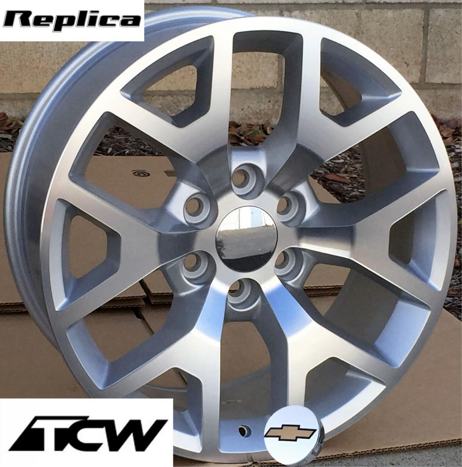 50 Inch Rims On Chevy : Inch quot gmc sierra oe replica wheels rims silver