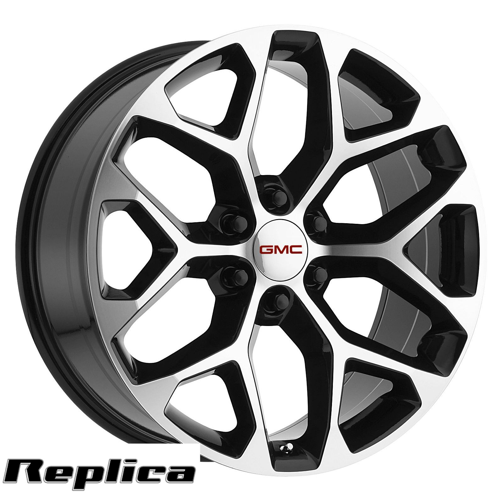 50 Inch Rims On Chevy : Gmc sierra wheels inch quot black machined rims