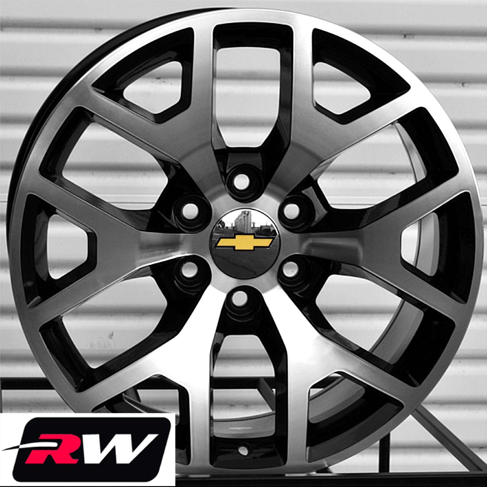 50 Inch Rims On Chevy : Silverado oe factory replica wheels quot inch black