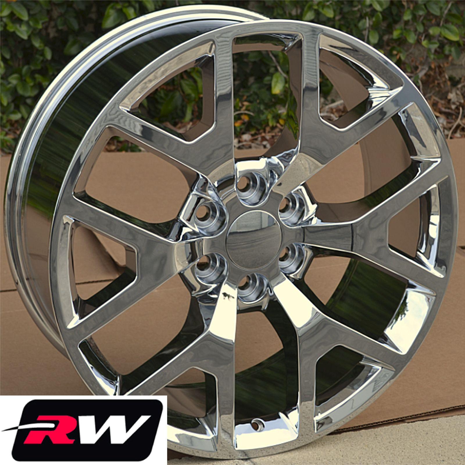 50 Inch Rims On Chevy : Gmc sierra wheels tires chrome rims inch