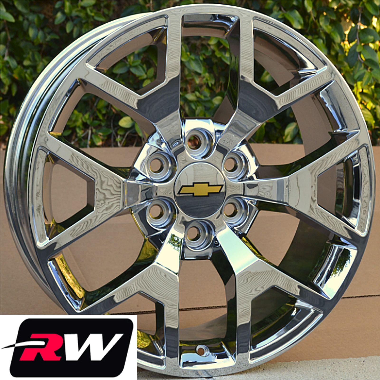 "Chevy Colorado Rims 22"" GMC Sierra Chrome Wheels 2004 2005"