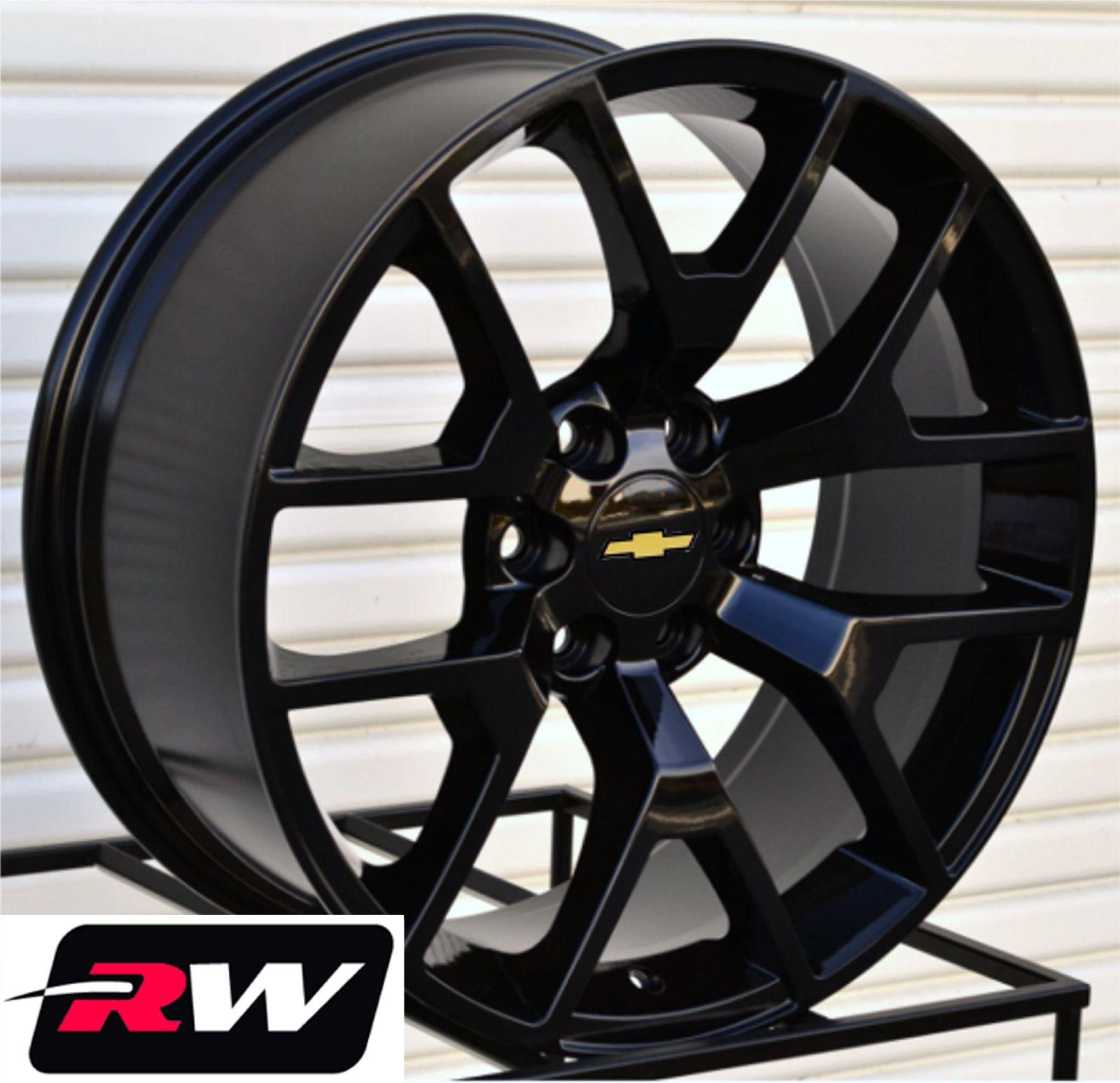 50 Inch Rims On Chevy : Gmc sierra wheels inch gloss black quot rims fit