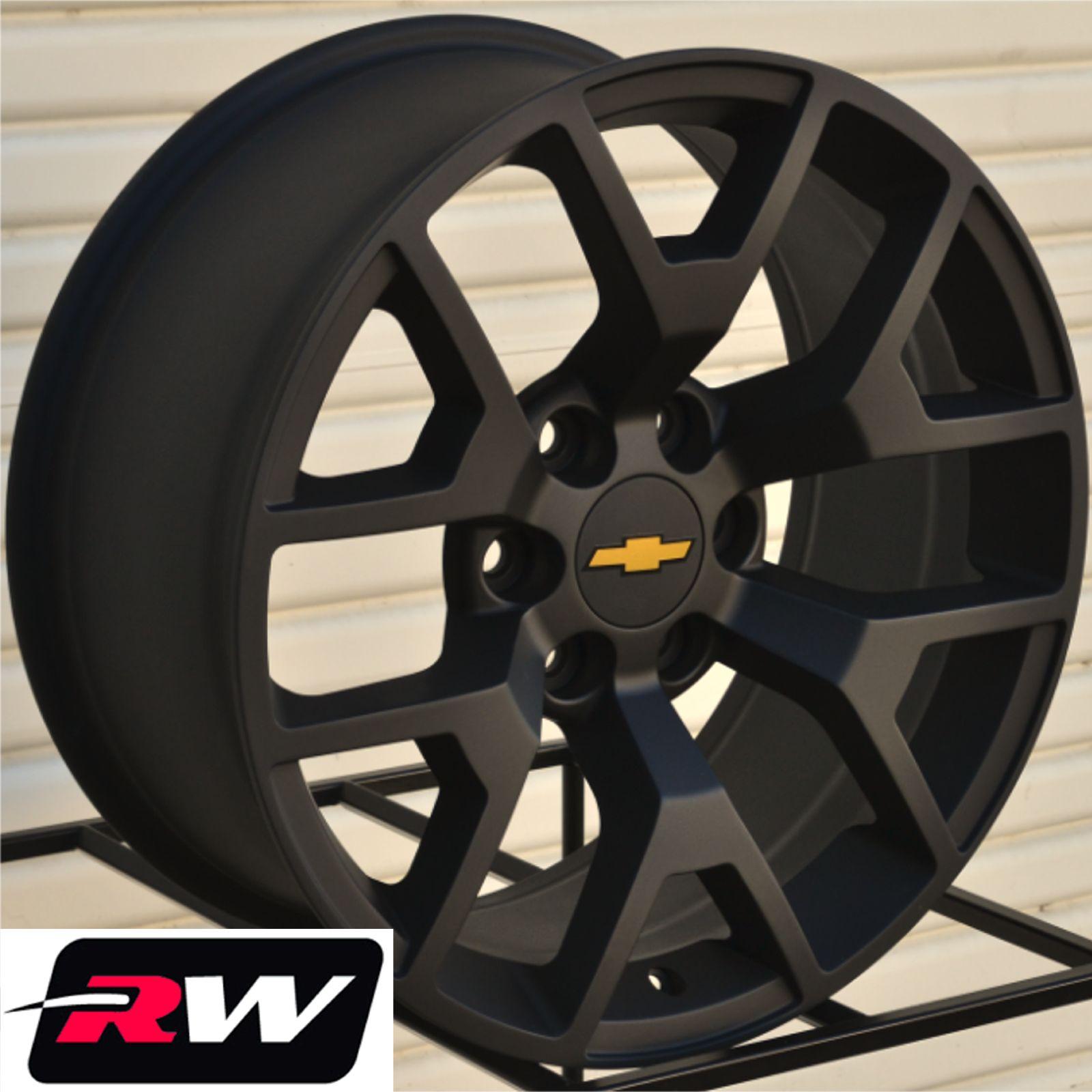 50 Inch Rims On Chevy : Gmc sierra wheels matte black quot inch chevy