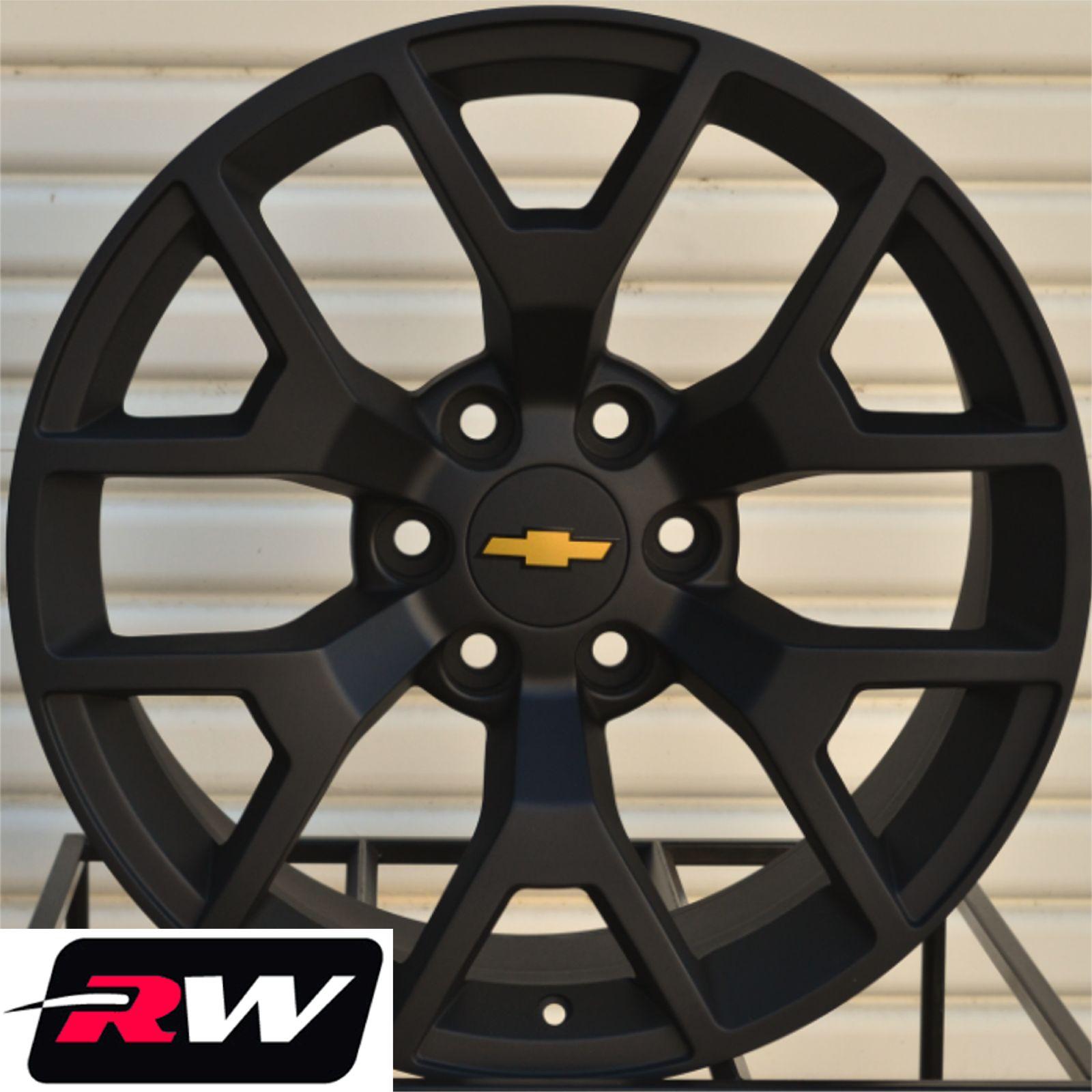 Buy GMC Sierra Wheels Tires 22 inch Matte Black Rims Chevy Silverado
