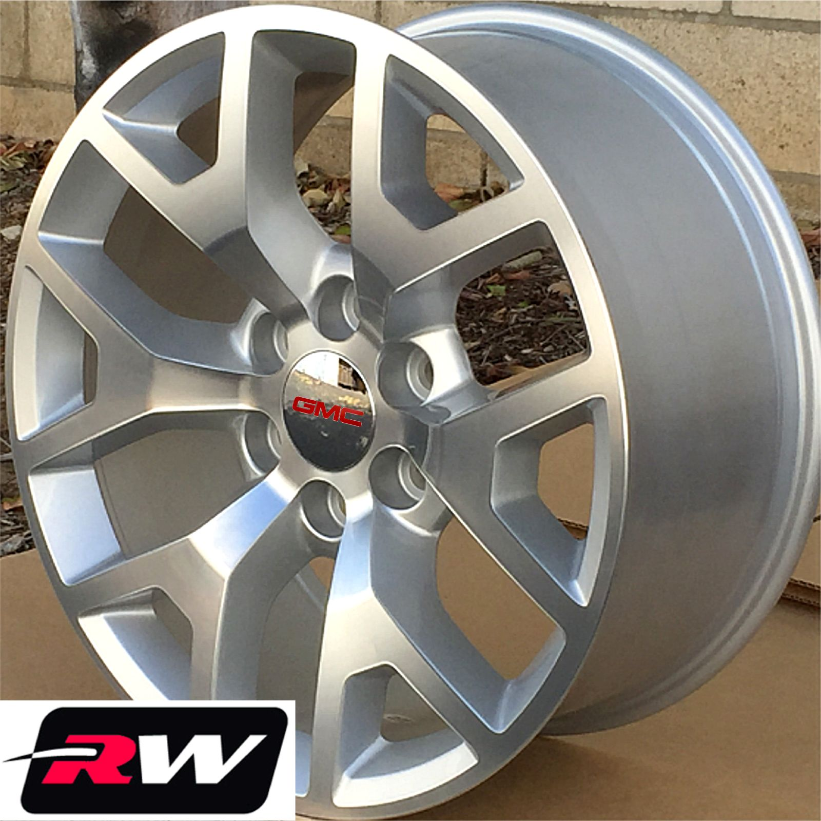 50 Inch Rims : Gmc sierra wheels silver machined quot inch rims