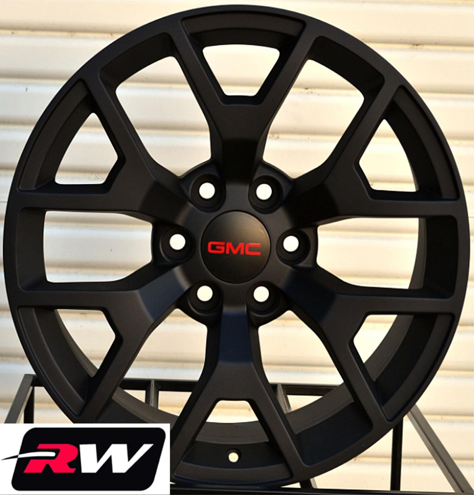 50 Inch Rims : Gmc sierra replica wheels satin black rims