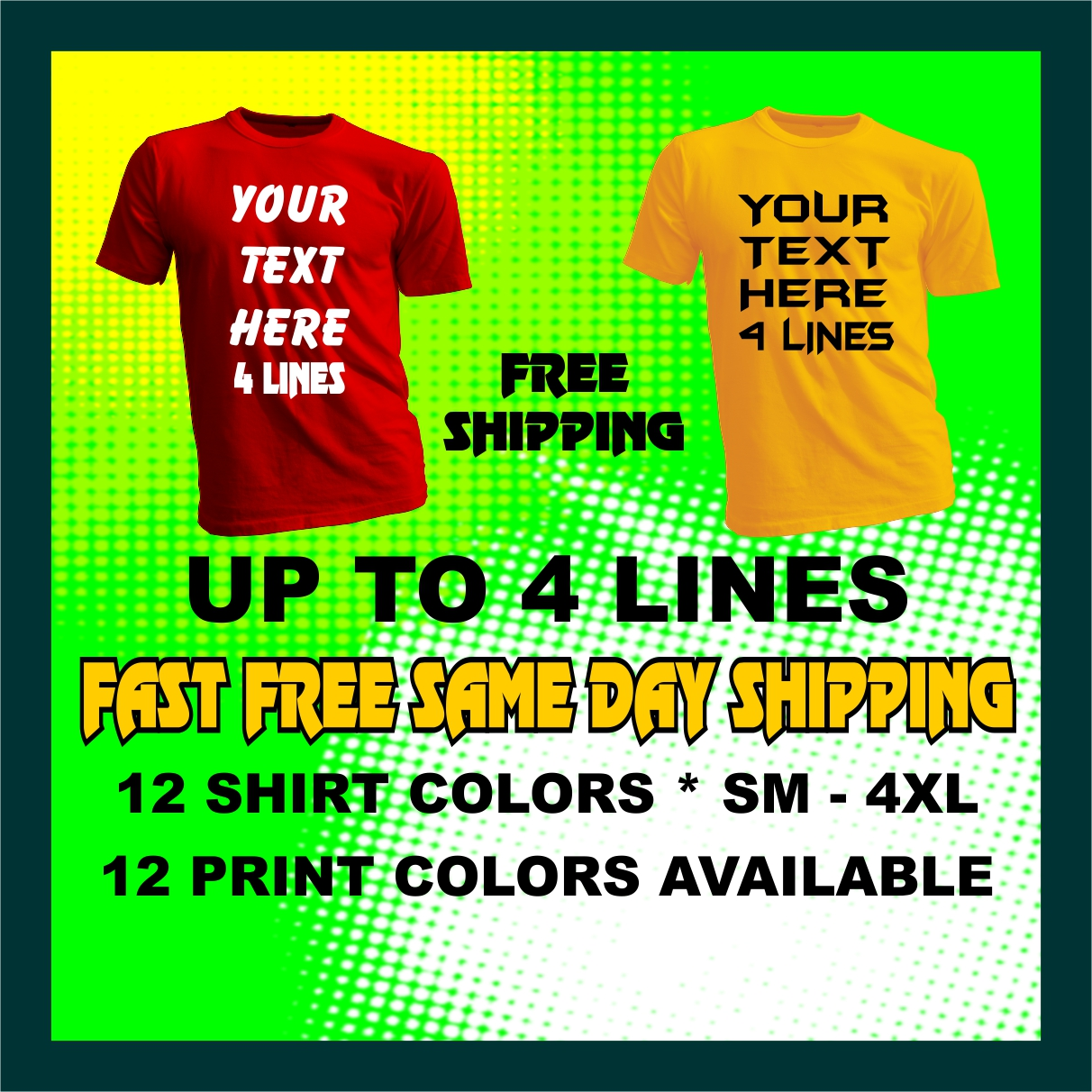 Custom T Shirt Personalized Your Text T Shirt Ebay