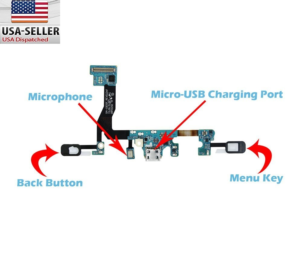 Samsung galaxy s7 edge charger charging port flex cable mic samsung galaxy s7 edge charger charging port flex cable mic keypad sm g935f sciox Image collections